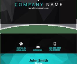 Business Card with Matt Lamination