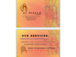 Al Diallo Tailors Business Card
