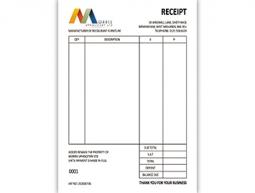 Morris Upholstery Ltd Invoice Slip