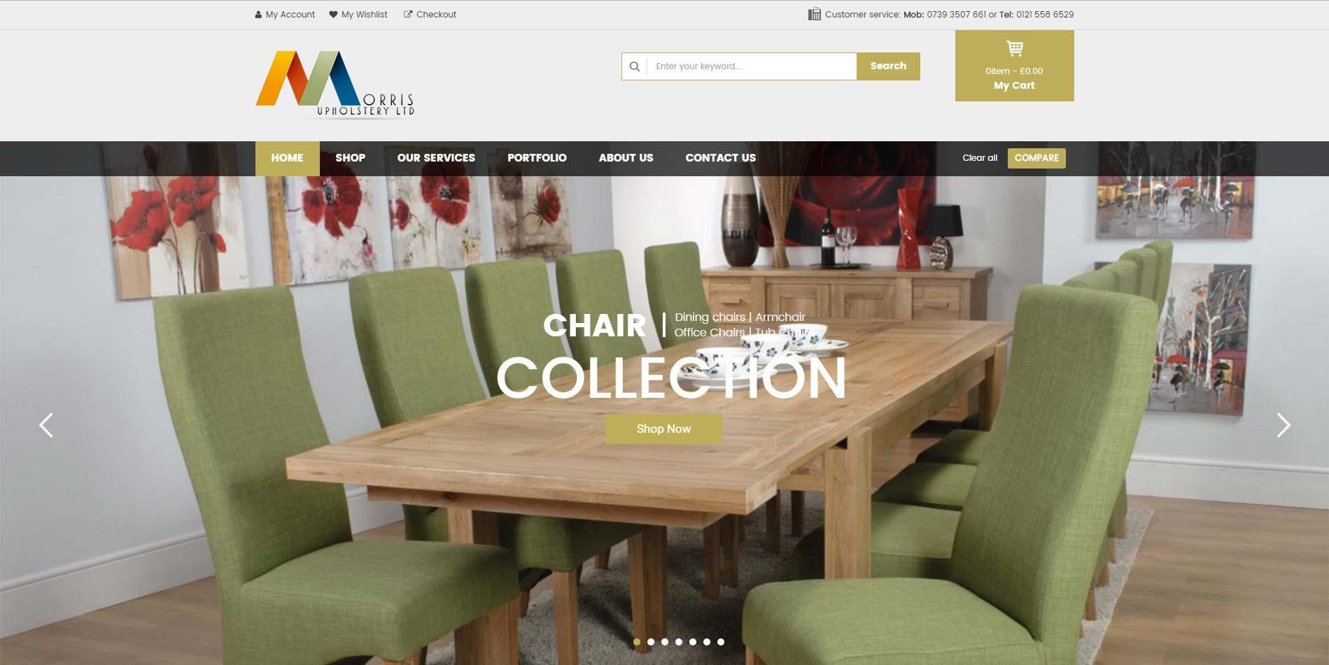 Morris Upholstery ltd website