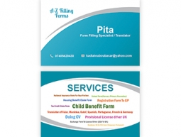 A-Z Filling Form Services Business Card