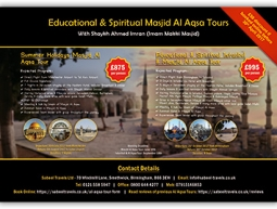 Educational & Spiritual Masjid Al Aqsa Tours Poster