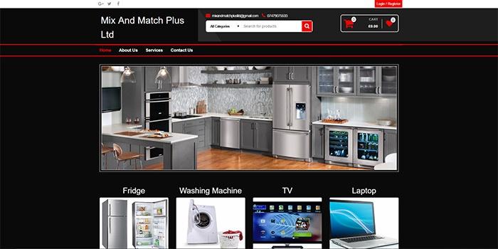Mix & Match Website