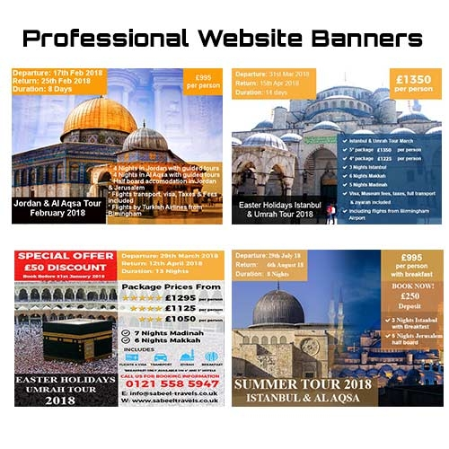 Sabeel Travel Professional Website Banner 2018