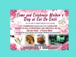 EAT ON GRILL – MOTHER'S DAY FLYER