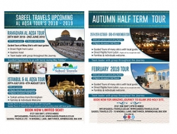 Sabeel Travel Tour 2018-19 Double Sided Flyer