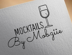 Mocktail By Mobziie Logo Design