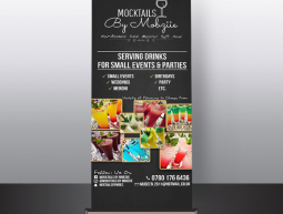 Mocktail By Mobziie Roll-Up Banner