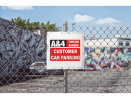A4 Turkish Barber Car Park Sign