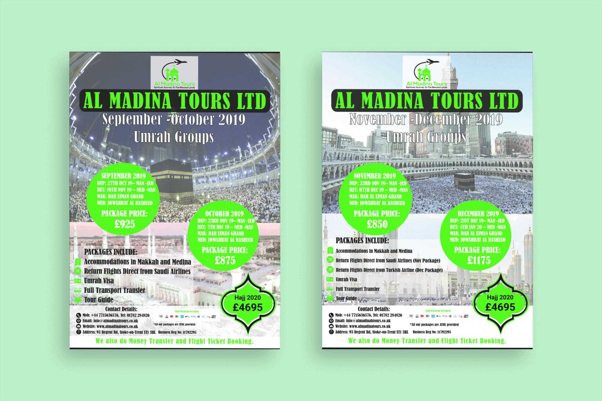Al Madina Tours 2019 Flyers