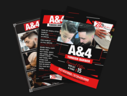 A&4 Turkish Barbers Design & Flyers